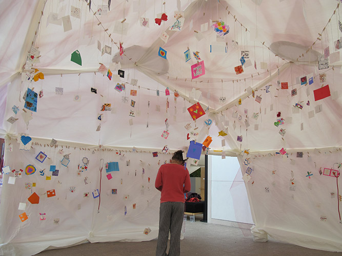 Heartbeats Project (interior view), participatory event, Peabody Essex Museum, Salem, MA, Oct 2015